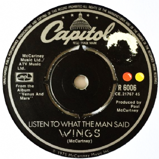 "Wings - Listen To What The Man Said (7"") (VG/NM)"